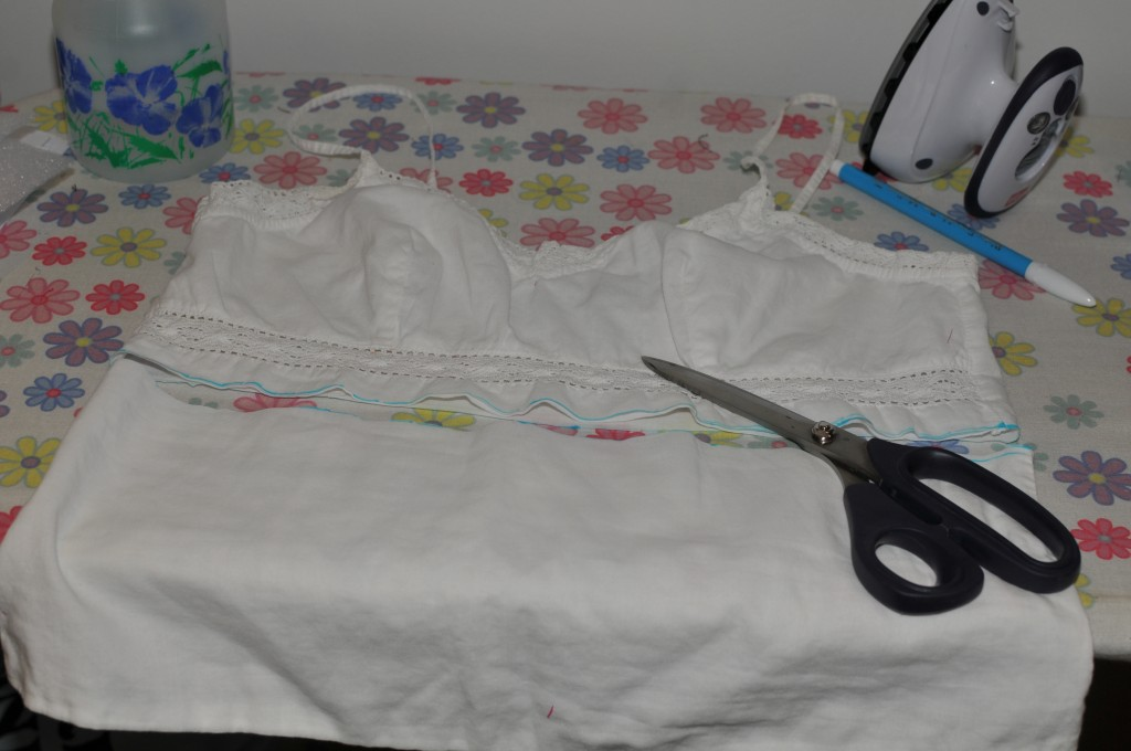 Camisole top, all cut up