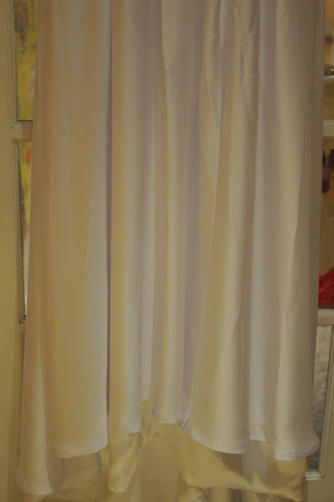 Bridal gown hem